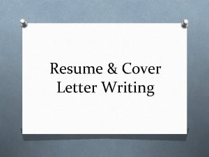 Resume Cover Letter Writing What is a Resume