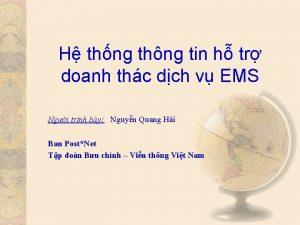 H thng thng tin h tr doanh thc