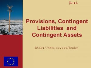 Pw C Provisions Contingent Liabilities and Contingent Assets
