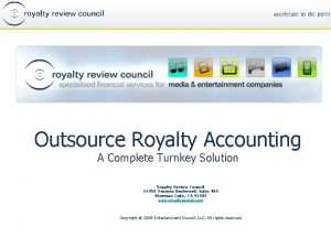 Outsource Royalty Accounting A Complete Turnkey Solution Royalty