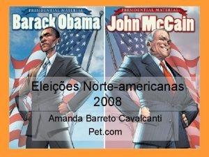 Eleies Norteamericanas 2008 Amanda Barreto Cavalcanti Pet com