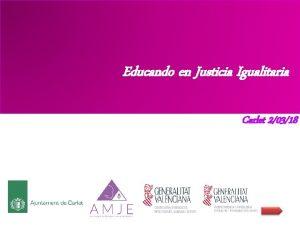 Educando en Justicia Igualitaria Carlet 20318 Educando en
