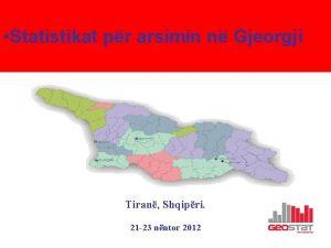 Statistikat pr arsimin n Gjeorgji Tiran Shqipri 21