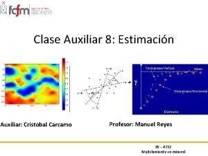 Clase Auxiliar 8 Estimacin Auxiliar Cristobal Carcamo Profesor