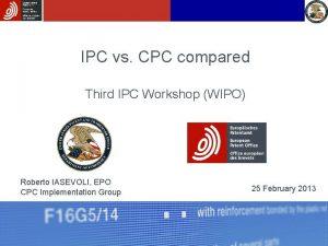 IPC vs CPC compared Third IPC Workshop WIPO