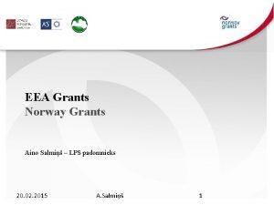 EEA Grants Norway Grants Aino Salmi LPS padomnieks