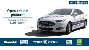 Open vehicle platform Automated Driving Demonstrator VIRTUAL VEHICLE