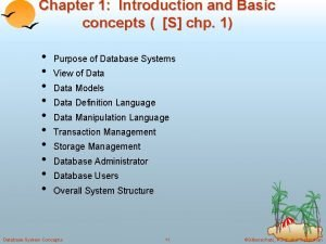 Chapter 1 Introduction and Basic concepts S chp