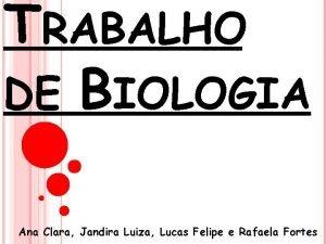 TRABALHO DE BIOLOGIA Ana Clara Jandira Luiza Lucas