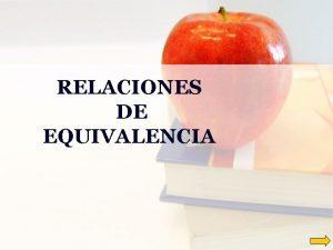 RELACIONES DE EQUIVALENCIA Las relaciones de equivalencia Qu