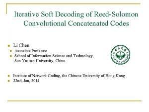 Iterative Soft Decoding of ReedSolomon Convolutional Concatenated Codes