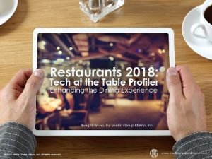Guests Still Dont Widely Use Restaurant Technology According
