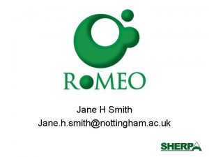 Jane H Smith Jane h smithnottingham ac uk