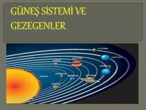 GNE SSTEM VE GEZEGENLER Evrende Gne Sistemi ad