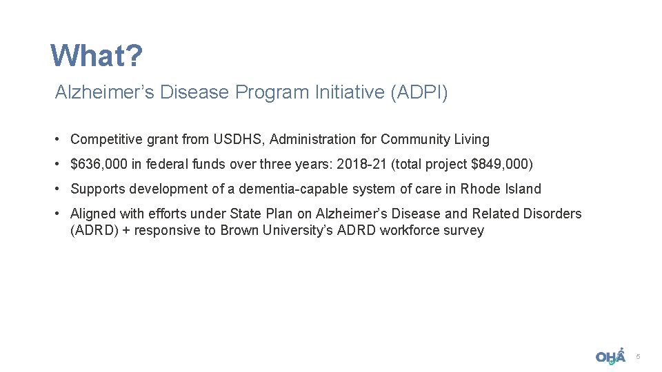 What Alzheimers Disease Program Initiative ADPI Competitive grant