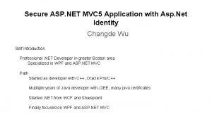 Secure ASP NET MVC 5 Application with Asp