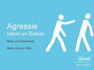 Agressie Intern en Extern MarieJos Weitenberg MarieJos van