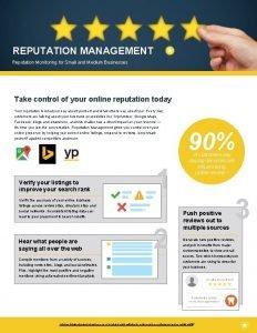 REPUTATION MANAGEMENT Reputation Monitoring for Small and Medium
