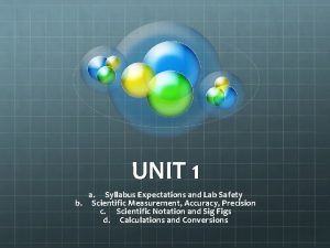 UNIT 1 a Syllabus Expectations and Lab Safety