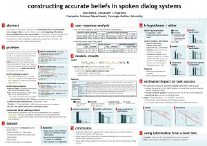 constructing accurate beliefs in spoken dialog systems Dan