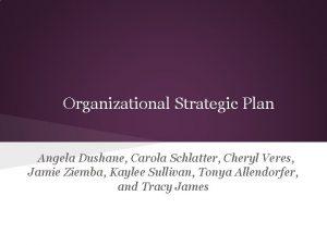 Organizational Strategic Plan Angela Dushane Carola Schlatter Cheryl