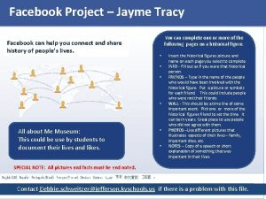 Facebook Project Jayme Tracy Facebook can help you