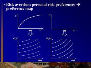 Risk aversion personal risk preferences preference map U