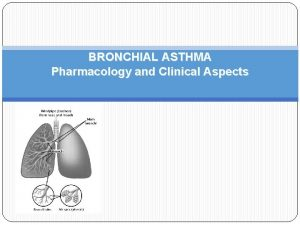 BRONCHIAL ASTHMA Pharmacology and Clinical Aspects DEFINITION AB