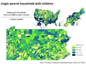single parent household with children Single parent household