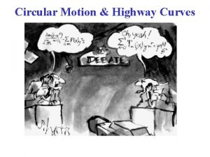 Circular Motion Highway Curves Sect 5 3 Highway