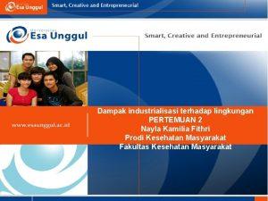 Dampak industrialisasi terhadap lingkungan PERTEMUAN 2 Nayla Kamilia