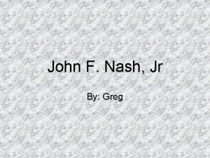 John F Nash Jr By Greg Early Life