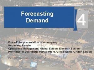 Forecasting Demand 4 Power Point presentation to accompany