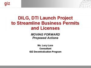 DILG DTI Launch Project to Streamline Business Permits