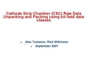 Cathode Strip Chamber CSC Raw Data Unpacking and