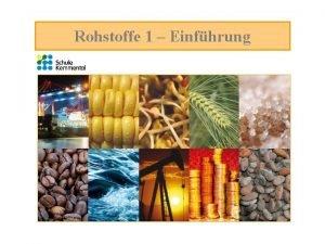 Rohstoffe 1 Einfhrung Rohstoffe am Mofa Wir haben