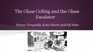 The Glass Ceiling and the Glass Escalator Megan