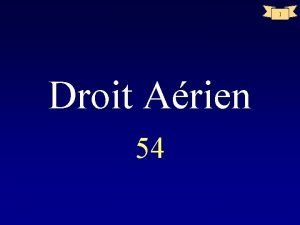 1 Droit Arien 54 2 AERODROMES ANNEXE 14