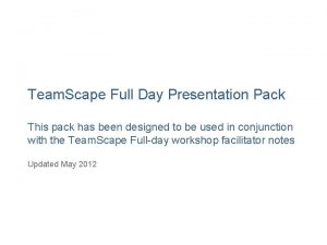 Team Scape Full Day Presentation Pack This pack
