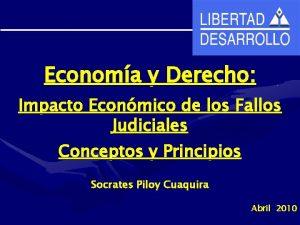 Economa y Derecho Impacto Econmico de los Fallos