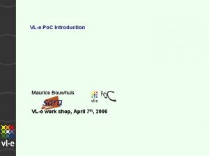 VLe Po C Introduction Maurice Bouwhuis VLe work