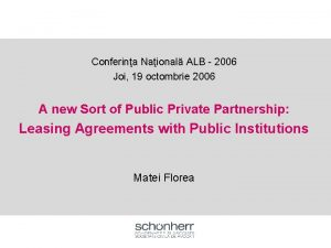 Conferina Naional ALB 2006 Joi 19 octombrie 2006