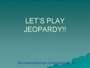LETS PLAY JEOPARDY Jeopardy Vocabulary Literary Terms Beowulf