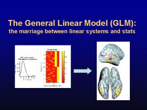 The General Linear Model GLM the marriage between