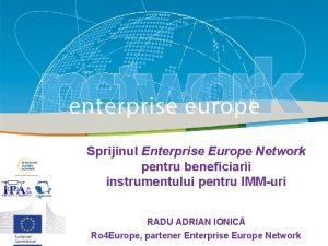 Sprijinul Enterprise Europe Network Title pentru beneficiarii instrumentului