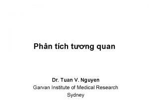 Phn tch tng quan Dr Tuan V Nguyen