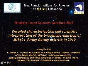 Planck Institut fr Phzsik Max Planck Institute for