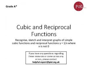 Grade A Cubic and Reciprocal Functions Recognise sketch