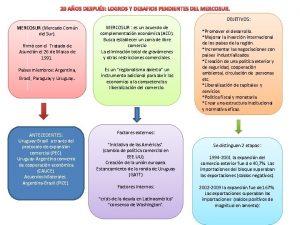 20 AOS DESPUS LOGROS Y DESAFIOS PENDIENTES DEL