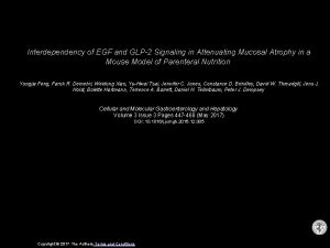 Interdependency of EGF and GLP2 Signaling in Attenuating